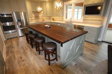 Kitchen Cabinet Stain Ideas by Remodelling Transitional Kitchen With Dark Walnut Island