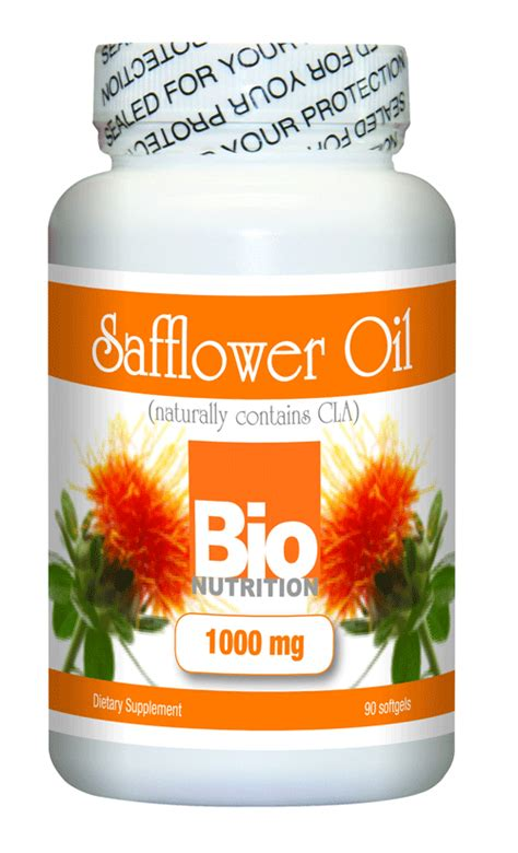 bio nutrition safflower oil 1000mg 90 softgels