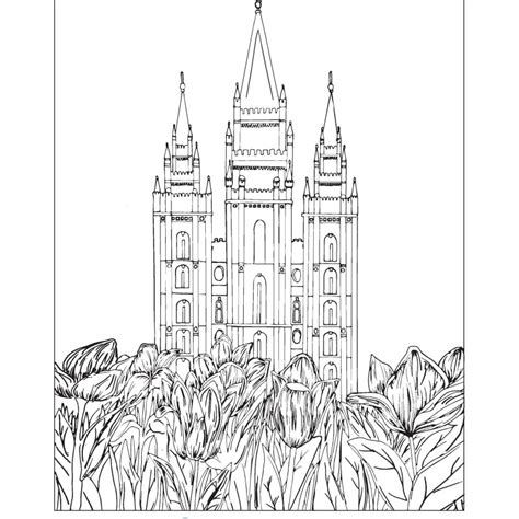 Lds Temple Outline Page Coloring Pages Lds Temple Template