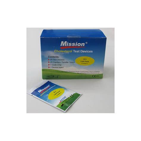 mission kolesterol teststrimler 3 1lipid panel 25stk medshop l 230 geartikler