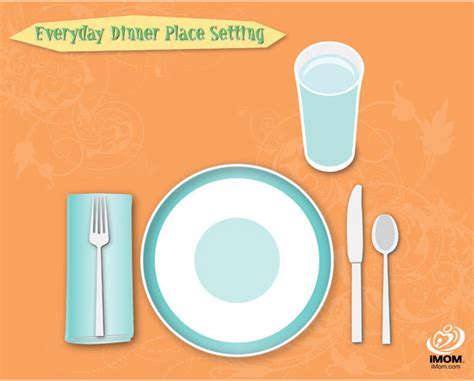 how to set a table everyday table place setting chart imom