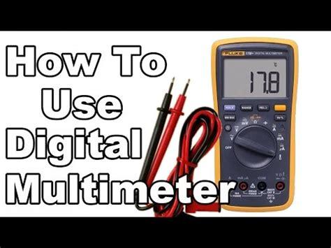 digital used how to use digital multimeter