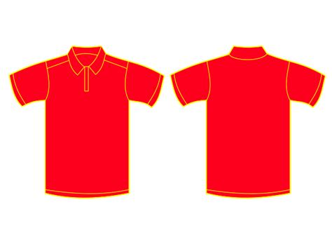 Vector Baju T Shirt collared shirt template cliparts co