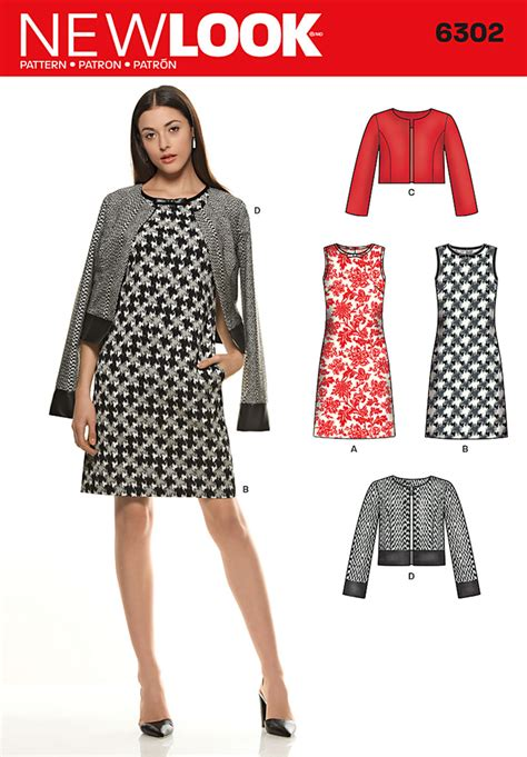 pattern review new look 6301 new look 6302 misses sleeveless dress and jackets