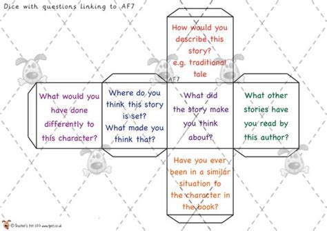 printable guided reading dice pinterest the world s catalog of ideas