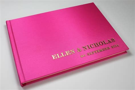 Pink Wedding Guest Books   Handmade in the UK