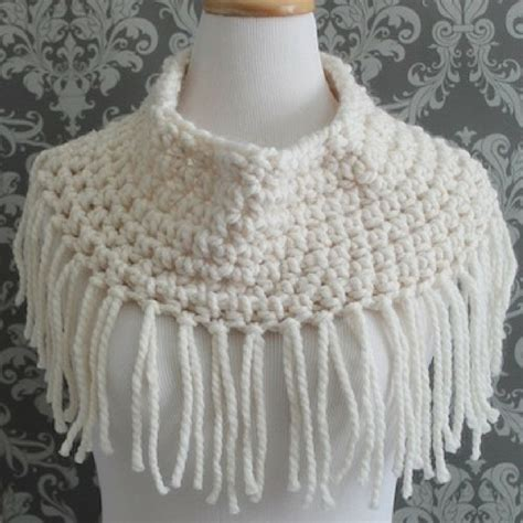 fringe pattern free crochet pattern fringed cowl squareone for