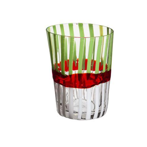 bicchieri verdi finest bicchiere acqua bora righe bianche e verde fascia