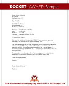 irs letter template business letter for irs sle sle business letter