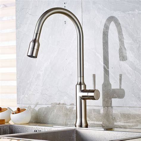 wholesale and retail brushed nickel kitchen sink faucet