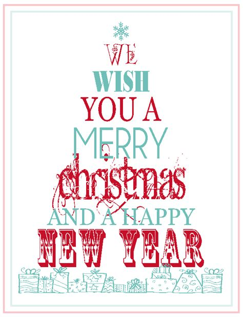 printable christmas posters cards free printable merry christmas happy new year the