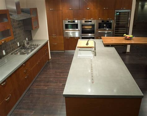 Concrete Countertop Mix Design by 1000 Images About Concrete Countertops Kitchen Islands