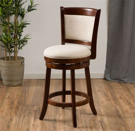 Kitchen Counter Chairs by Modern 24 Quot Inch Fabric Swivel Back Counter Height Stool
