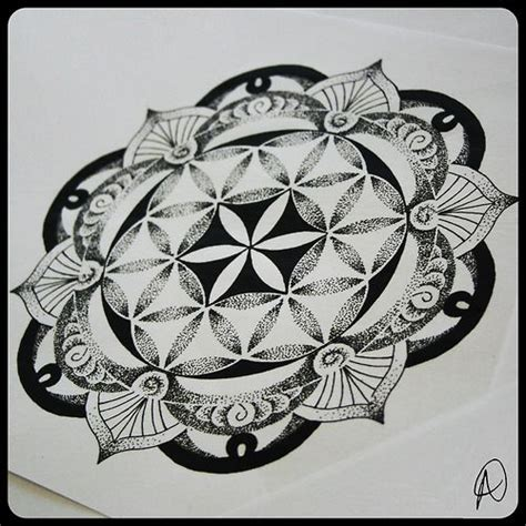 the flower of life tattoo flower of mandala sacred geometry wicca
