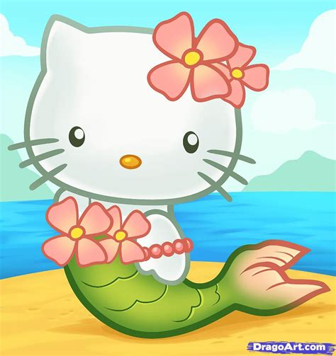 hello kitty mermaid wallpaper how to draw mermaid hello kitty step by step characters