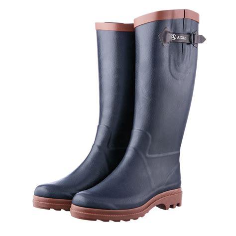 wellington boots aigle aiglentine fur wellington boots s marine