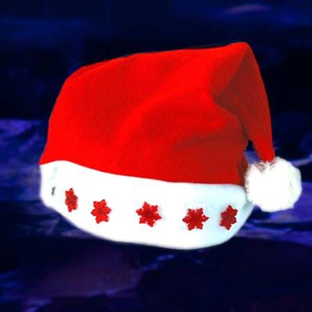 santa hat with lights light up santa hat led santa claus hat light up hat