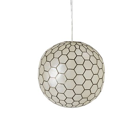 buy west elm capiz orb medium ceiling light 16 quot dia