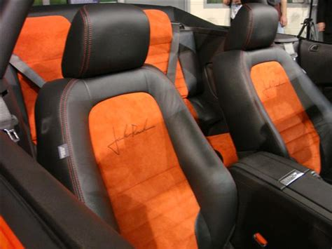 Orange Interior Paint Torch Red 2010 Roush 427r Ford Mustang Convertible