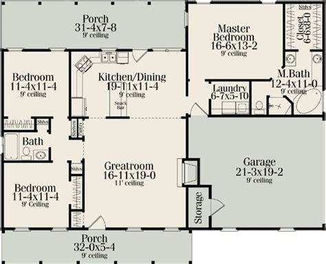 ranch floor plans with split bedrooms plan 62099v split bedroom country ranch house plans one bedroom and house