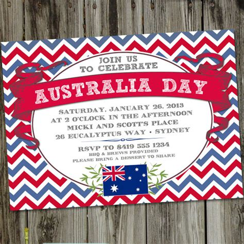 printable birthday invitations etsy australia day printable party invitation by partymonkey on