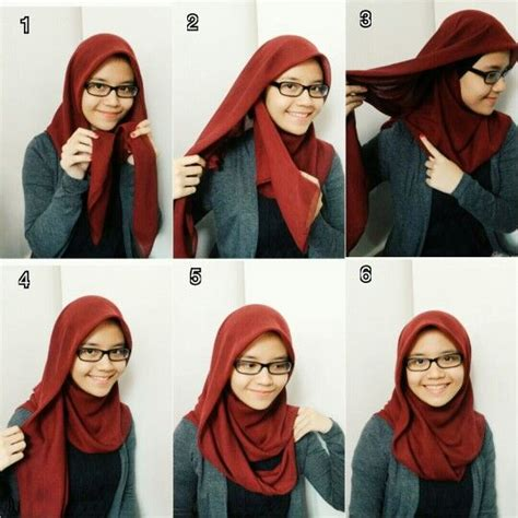 square hijab bawal tutorial  dian dalha hijab