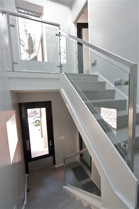 Kerala Home Design Staircase by Glass Rails Contemporary Staircase Chicago By Iron