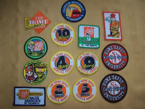 home depot diy employee award motivation patches lot 14 ebay