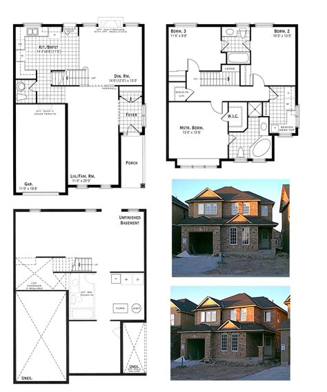 floor plan and elevation of a house our house