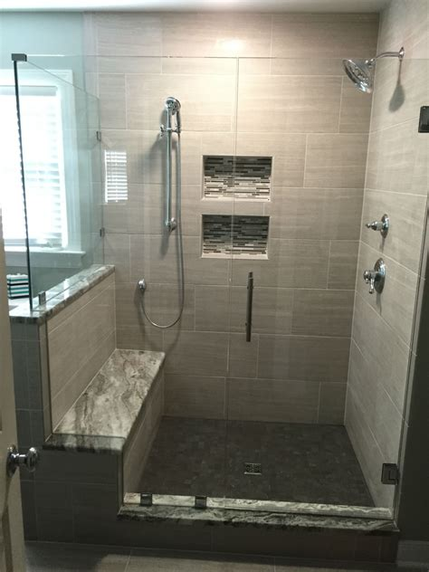 Showers With Seats And Glass Doors Woodlake Frameless Glass Shower Door Richmond Va