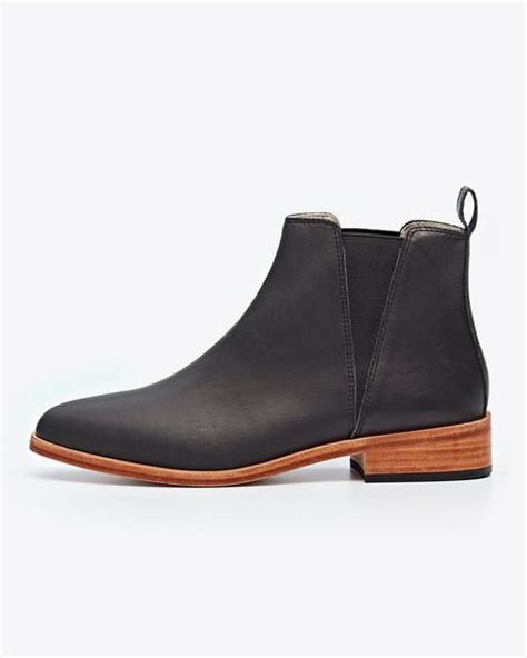 s chelsea boot black ethically made nisolo