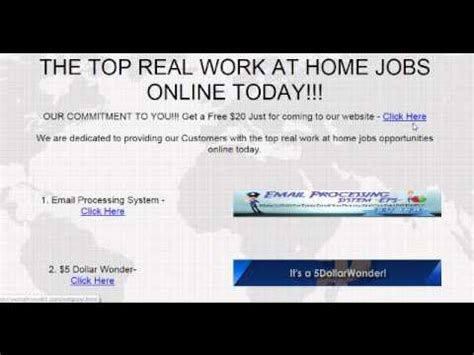 Free Online Work From Home Jobs - real work from home job 2018 2019 free website with the