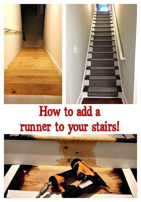 how to add a basement how to add a runner to stairs refresh restyle
