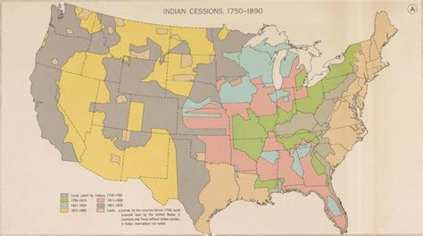 american lands cession map vanishing indians farther afield