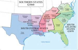 Map Of Southern Us States by Southern States Map Map3