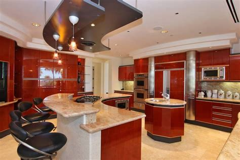 White Kitchen Island Breakfast Bar by 27 Luxury Kitchens That Cost More Than 100 000 Incredible