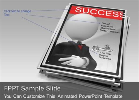 Animated Magazine Template For Powerpoint Presentations Presentation Magazine Free Powerpoint Template