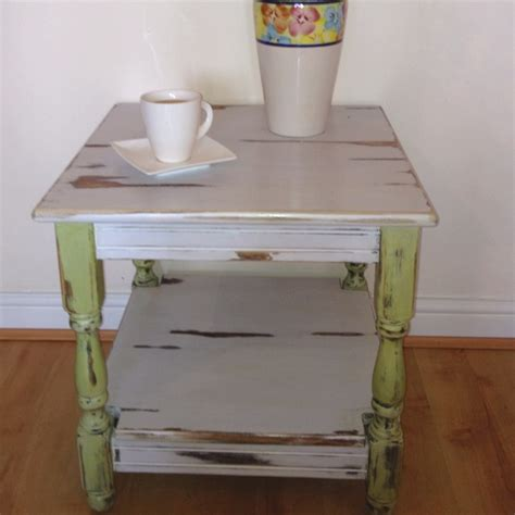 shabby chic end table gorgeous shabby chic end table living rooms