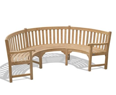 curved wooden benches henley teak curved wooden bench with arms