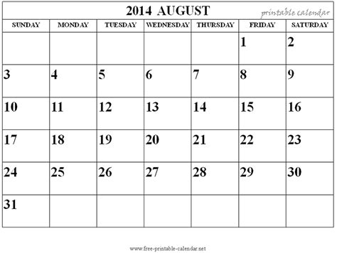 free printable calendar free printable calendar august