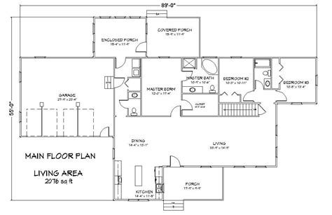 icf floor plans icf ranch house plan with greatroom the house plan site