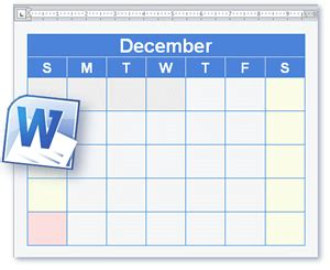 calendar template blank printable calendar  word format
