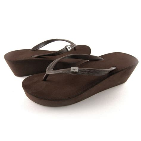 Popits Wedges 5cm 1 popits flip flops 2 quot wedge brown simply charming