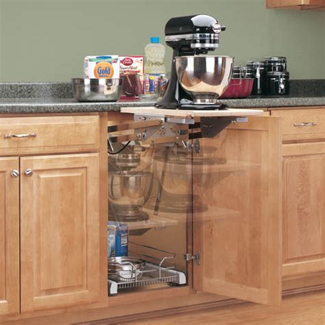 shelves that slide mixer appliance lift mechanism without