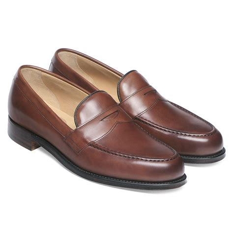 in loafers cheaney hudson s brown leather loafer made
