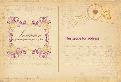 Invitation Letter Vector Invitation Letter Background Free Vector 45 456
