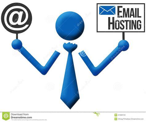 cheap mail hosting mail hosting email hosting human icon stock illustration