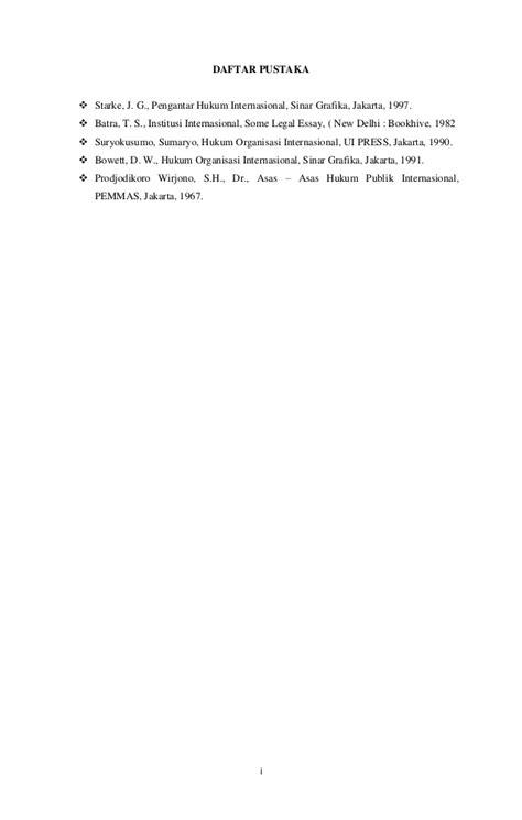 Hukum Organisasi Internasional By D W Bowett W C Ll D makalah hakikat hubungan internasional