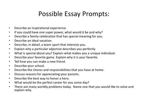Topics For Writing Essays by Isee Writing Class