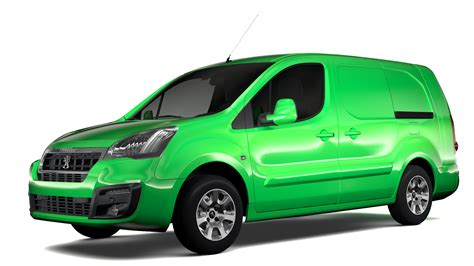 peugeot partner 2017 peugeot partner van l2 2slidedoors 2017 3d model buy